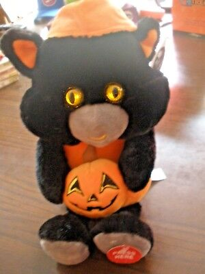 Black Cats Halloween Song (NEW HALLOWEEN SPOOKY ANIMATED BLACK CAT W PUMPKIN