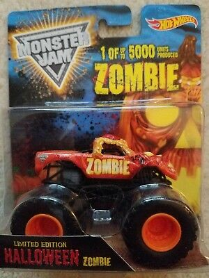 Monster Jam Hot Wheels Zombie Halloween Truck 1 Of 5000