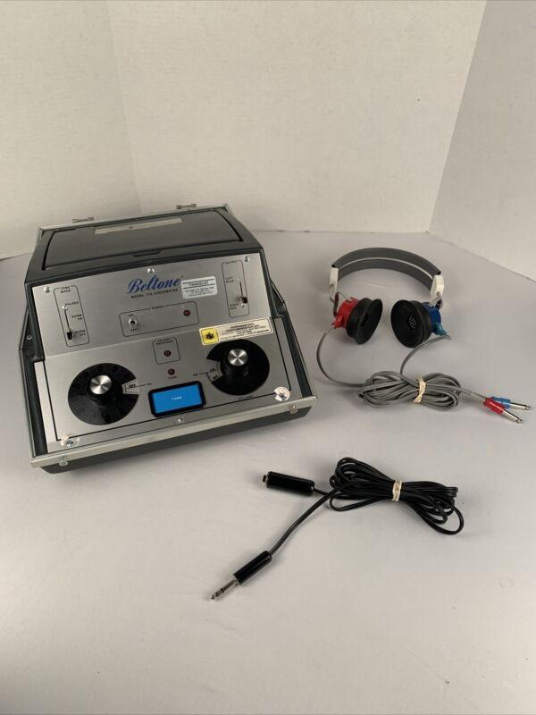 Vintage Beltone Audiometer Model 119 W/ Accessories, Tested & Working