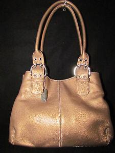 Tignanello Pebble Leather Double Handle Shoulder Bag 2