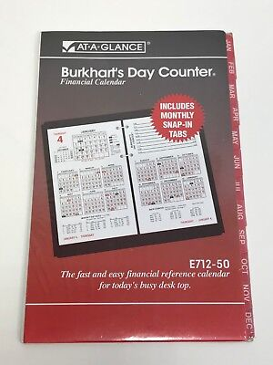 At-a-glance Burkharts Day Counter Monthly Snap In Tabs Monthly Tabs Only