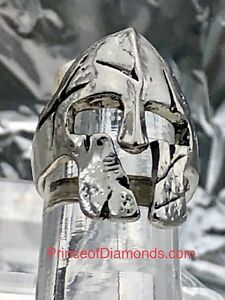 Silver coloured soldier helmet Lord of the Rings ring size: 6.5