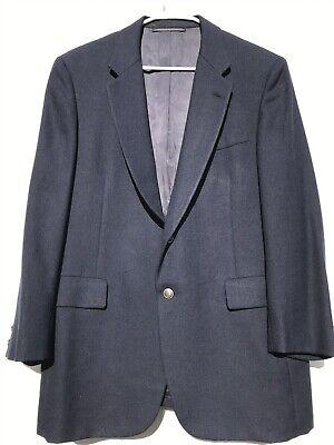 Hickey Freeman Navy Blue Suit Coat Blazer Wool Boardroom Suit Jacket Men's 46 R