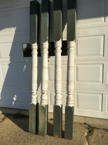 """4 antique porch posts [ 93"""" by 5"""" by 5"""" ]"""