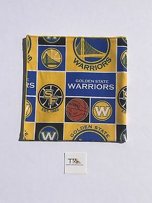 Golden State Warriors Men's Pocket Square with Yellow Trim