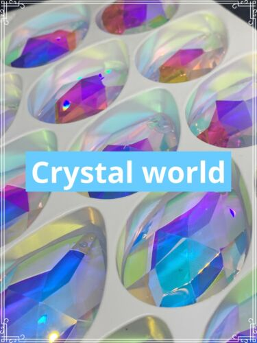 Gemstone Tear Drop colors ASFOUR CRYSTAL AB  872-2 inch-1 Hole Chandelier Parts