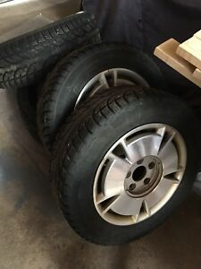 """4- 195/65/15"""" winters, Like new  5x 114.3mm fits civic & others"""