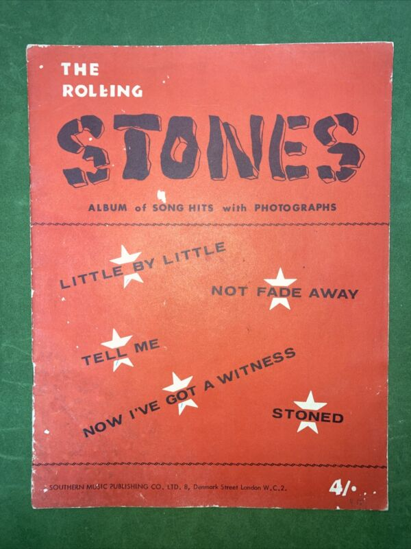 THE ROLLING STONES ALBUM OF SONG HITS WITH PHOTOGRAPHS  1964