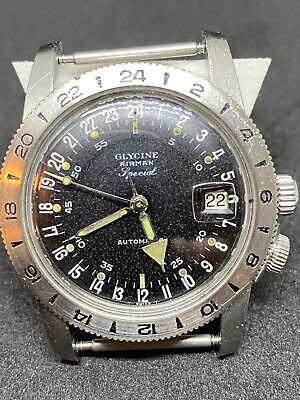 Glycine Airman Special Vintage 1960's Serviced in 2020, Working Hack wire