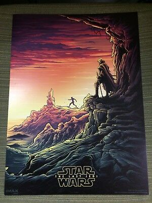 STAR WARS: THE LAST JEDI (Luke/Rey) EXCLUSIVE AMC IMAX 9.5x13