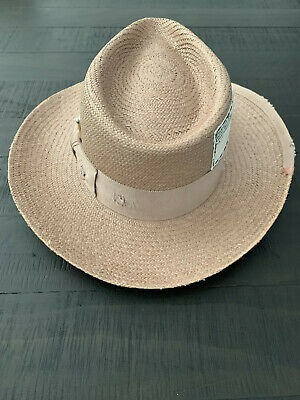 RARE Nick Fouquet Ecuadorian Straw Hat Sold by Barneys Sz. 7 3/8~~L@@K~~