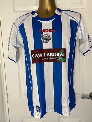 Legea DEPORTIVO ALAVES 2008/09 L Home Football Shirt Soccer Jersey Camiseta Top  image