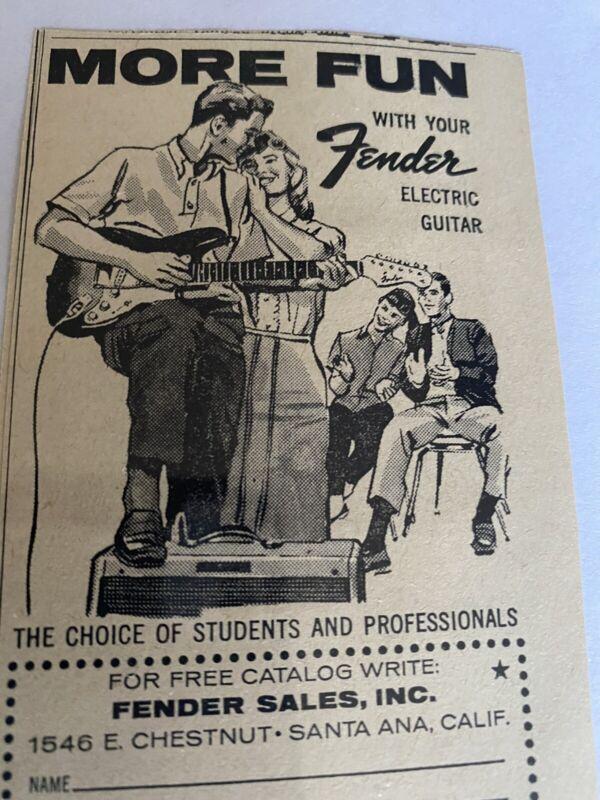 Fender Electric Guitar Ad. 1950