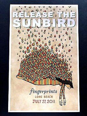 Release The Sunbird -Live At Fingerprints 7/27/11 Concert Poster Orig. Mel Kadel