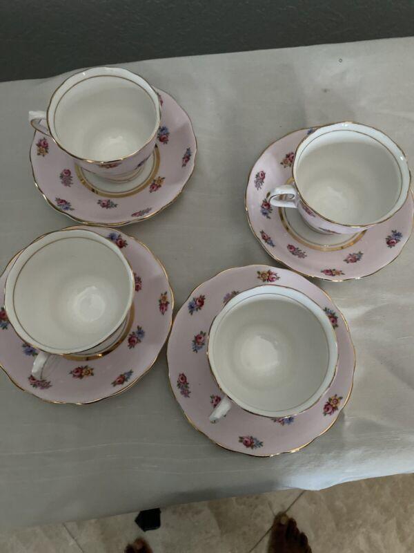 colclough bone china tea cup and saucer Made In Longtin England