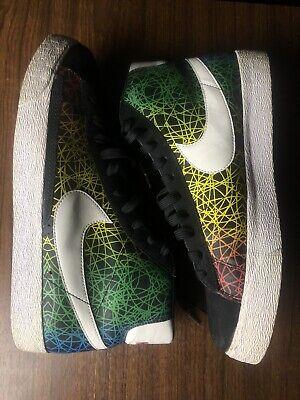 Nike SB Zoom Blazer Mid QS Lance Mountain Black Sea Crystal Scribble Vintage 12