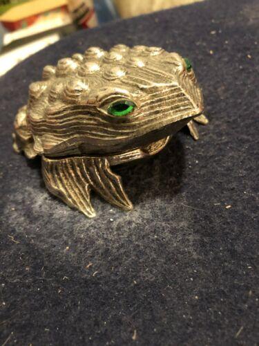 Vintage brass Linden frog alarm clock works