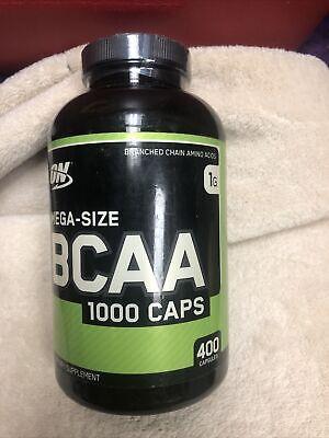 Optimum Nutrition BCAA 1000mg Amino Acids - 400 capsules BUILD MUSCLE Ex 1/20