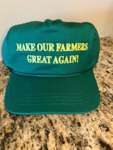 PRESIDENT DONALD TRUMP OFFICIAL MAKE OUR FARMERS GREAT AGAIN MAGA HAT USA MADE