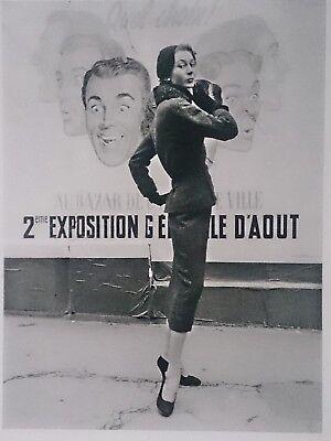 "F.C. GUNDLACH großer Orig.Silbergel. Abzug ""Paris 1954"" IKONE DER MODEFOTOGRAFIE"