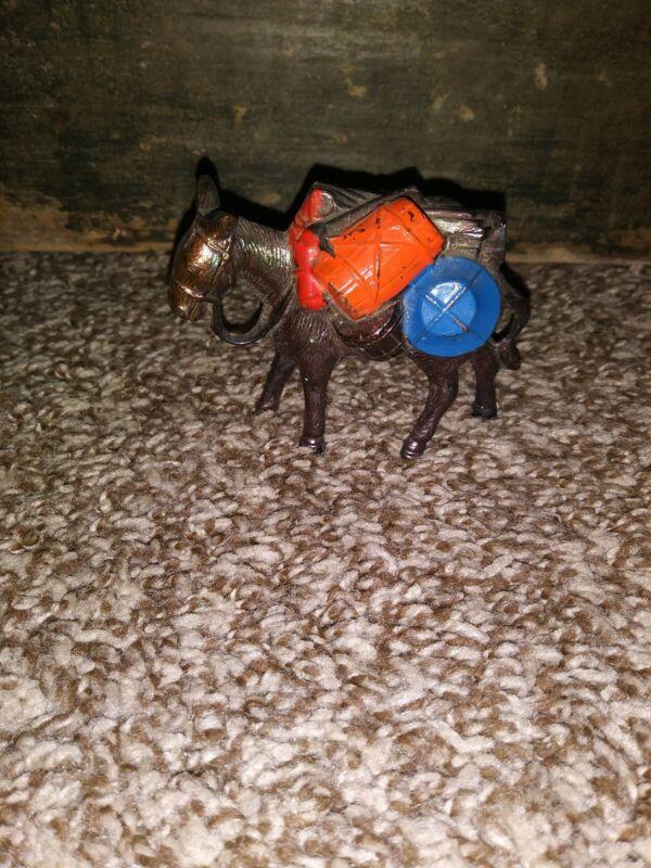 Vintage Metal Toy Burro Donkey Figurine Japan