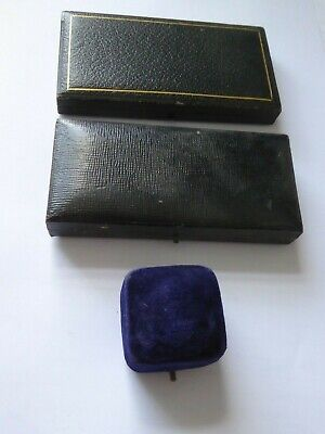 3 x Vintage Jewellery Boxes - Masonic / Ring Box