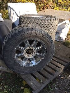"35"" Nitto Trail Grapplers on 20"" rims"