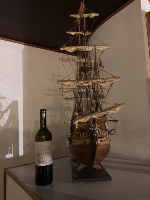 Handmade Antique French Galeon