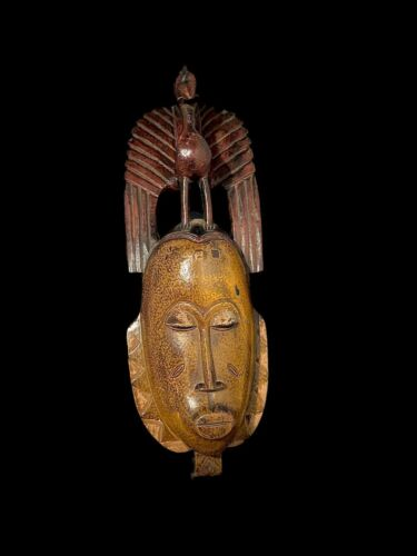 Beautiful African Mask - Wood - Guro - Ivory Coast (3662 - N)