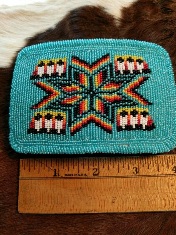 Native American Styled Beaded Belt Buckle