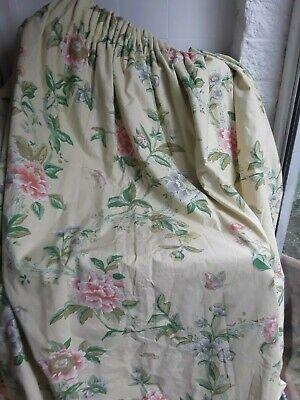 Pr Vintage GP & J Baker Peony Pattern Lined & Blanket Interlined Curtains 2 £40