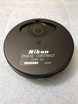 Nikon Diaphot Phase Contrast Elwd 0.3 Condenser Turret Ph1 Ph2 Ph3 Phl