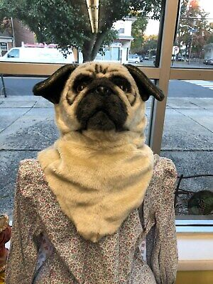 Adult Pug Costume (PRICE DROPPED Mouth Mover Pug Mask Dog Costume Full Overhead Adult Mens Womens)