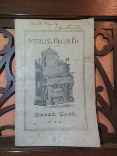 Antique Victorian Sterling Organ Co. Pump Reed Organ Catalog & Price List 1879