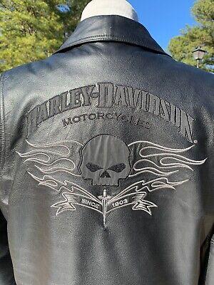 HARLEY DAVIDSON DESIGNATOR WILLIE G SKULL MEN'S LEATHER JACKET LARGE 97078-09VM