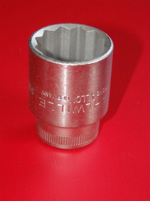 "Stahlwille 15/16"" AF Bi-Hex Socket x 1/2"" Drive 50 Series Chrome Alloy Germany"