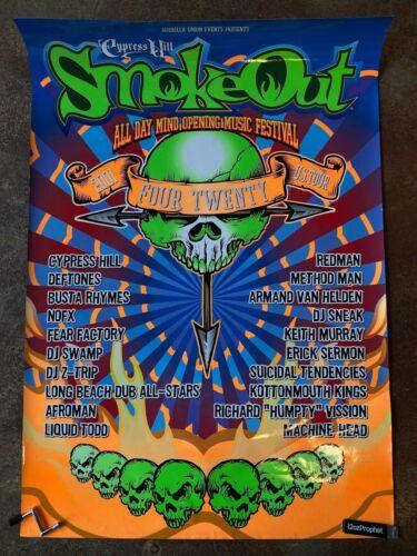 VINTAGE Cypress Hill Smoke Out 2001 Tour Poster OG 27x39 Redman Deftones Busta