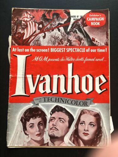 "Ivanhoe Original Mocie Pressbook (1952) - 28 Pages - 12"" x 17""  VG"