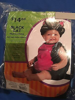 Black Cat Halloween Infant Costume 0-6 months