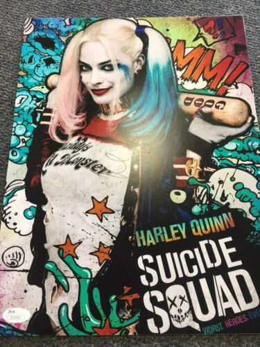 Suicide Squad Margot Robbie Autographed Signed 11x14 Photo JSA COA #1