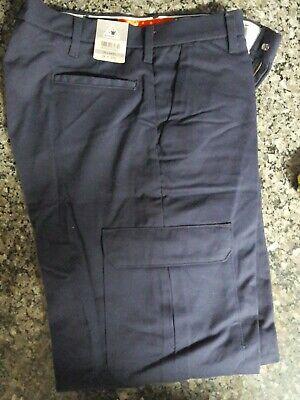 NWOT Bulwark FR Mens Work Pants Size 46 x 30 Navy Blue Fire Resistant Brand New