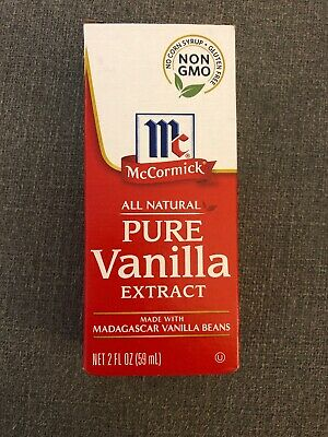 New McCormick All Natural Pure Vanilla Extract  2 Oz Bottle Exp:08/2022