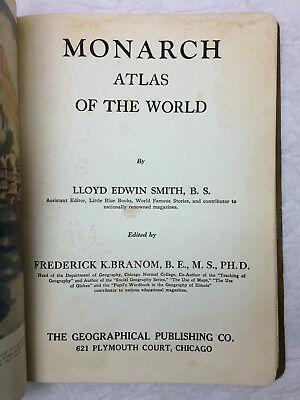 Monarch Atlas of the World Book Vintage 1934