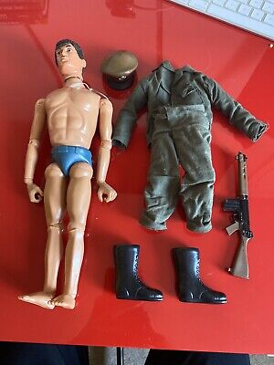 Vintage Action Man Talking Commander Early 1970's Figure Good Condition .