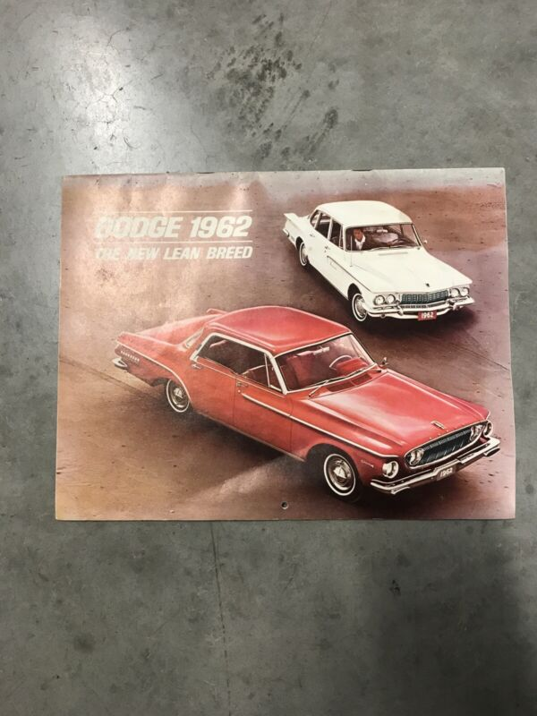 """Dodge 1962 """"The Lean New Breed"""" Brochure/ Calender"""