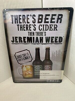 Jeremiah Weed EMBOSSED Tin Signs