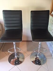 2 x Black Leather Barstools Barden Ridge Sutherland Area Preview