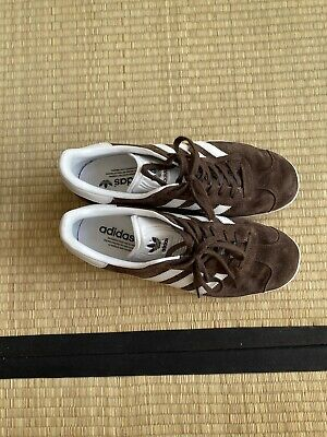 Adidas Gazelle Dark Brown Worn Twice Used Size UK 7.5