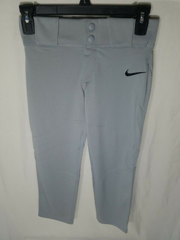Nike Vapor Pro Baseball Pants XS-XL Youth Boys Wolf Gray Full Length 747237-052
