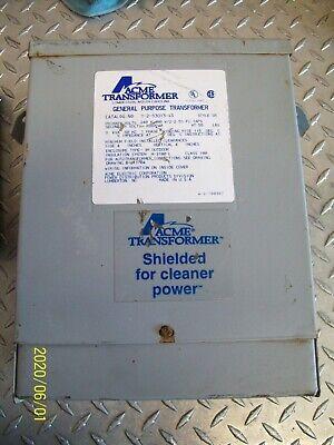 Acme Transformer T-2-53013-4s 3kva Pri 240 X 480 Sec 120240